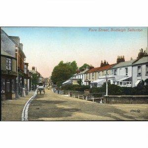 Valentine's Series Postcard 'Fore Street, Budleigh, Salterton'