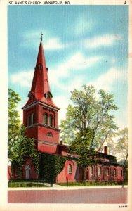 Maryland Annapolis St Anne's Church 1944