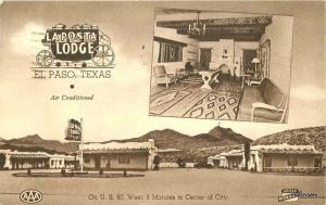 1950s La Posta Lodge interior Entrance Roadside Portraitone Associate 10513