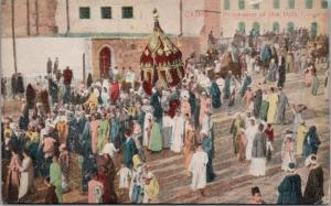 Cairo Egypt Procession of the Holy Carpets Postcard D66