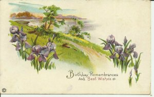 Birthday Remembrances and Best Wishes  -- EMBOSSED