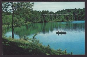 Rowboat,Greetings From Belhaven,NC Postcard