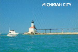 North Pier Lighthouse Michigan City Indiana
