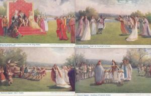 Warwick Pageant Human Sacrifice Lady Jane Grey Paganism Bears 4x Old Postcard s
