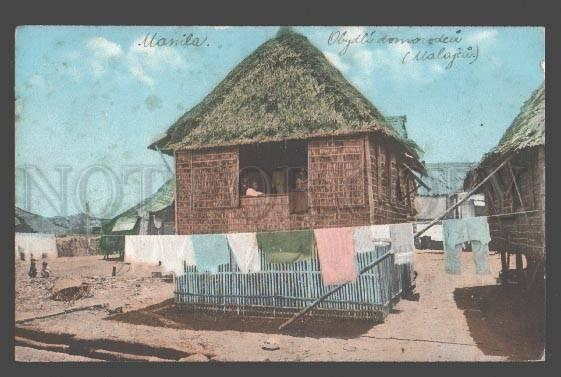 098036 Philippines MANILA Native Home Vintage PC