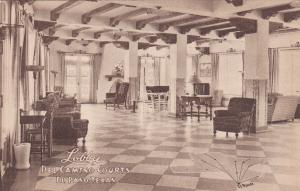 Interior View, Lobby of Del Camino Courts, El Paso, Texas, 1930s