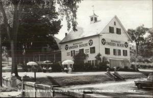East Wilton ME Bergman Sweden House Real Photo Postcard