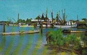 Alabama Shrimp Fishing Boats Near Mobile