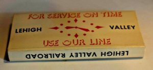 6 Lehigh Valley Railroad 20 Strike Matchbooks with Original Box