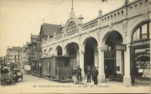 france, TOUQUET-PARIS-PLAGE (62), La Gare des Tramways, Tram Station (1920s)