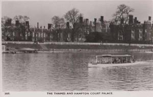 London Thames River Tourist Day Trip + Hampton Court Palace RPC Postcard