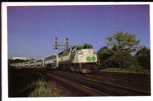 GO Railway Train, Lambton Park, Toronto, Ontario,