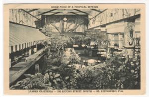 Garden Cafeteria Interior St Petersburg Florida postcard