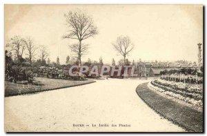 Old Postcard Rouen Le Jardin Des Plantes
