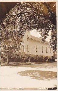 Wisconsin Durand Methodist Church Real Photo RPPC