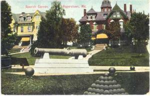 Spanish Cannon on Display in Haggerstown, Maryland, MD, Divided Back
