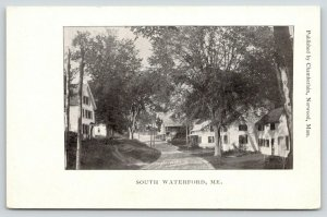 South Waterford Maine~Three-Store Home @ 39 Sweden Rd~Old Store Porch~c1906 PC