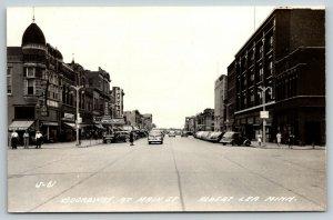Albert Lea MN~Broadway @ Main Street~Rivoli Theatre~St Paul Clothing~1940s RPPC