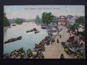 Surrey RICHMOND The Thames from Richmond Bridge c1905 Postcard