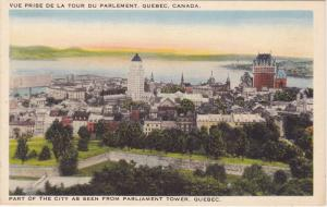 Part of The City as seen from Parliament Tower,  Quebec,  Canada,  30-40s