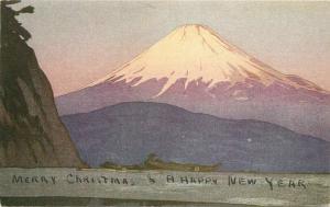 Artist impression En Route Manila 1950s Board SS President Postcard 1339 Japan