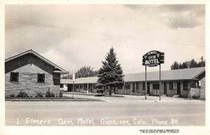Gunnison Colorado Elmers Gem Motel Real Photo Antique Postcard J60251