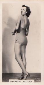 Georgie Butler Hollywood Actress Rare Real Photo Cigarette Card