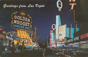 LAS VEGAS , Nevada , 50-60s; Fremont Street , Greetings , New Neon Signs