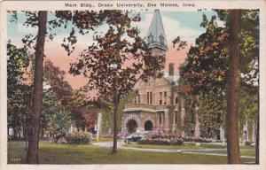 Iowa Des Moines Main Building Drake University 1923