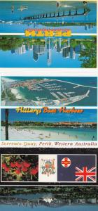 Hillarys Boat Harbour Perth Australia 3x Postcard s
