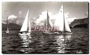 Postcard Modern Boat Sailboat Lake Bourget and its sailboats