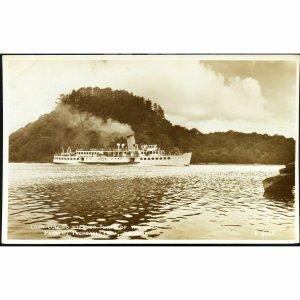 Valentine & Sons Real Photo Postcard 'Loch Lomond Steamer 'Man of the Loch''
