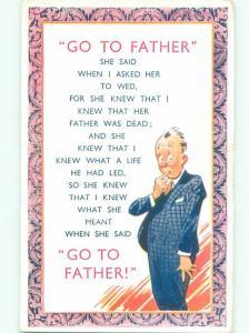 Bamforth Comic GO TO FATHER AB9767
