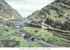 The Gap of Dunloe Killarney County Kerry Ireland Irish Continental Old Postcard