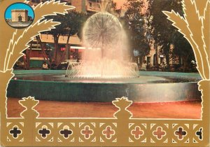 Libya Postcard Benghazi fountain view sunset image