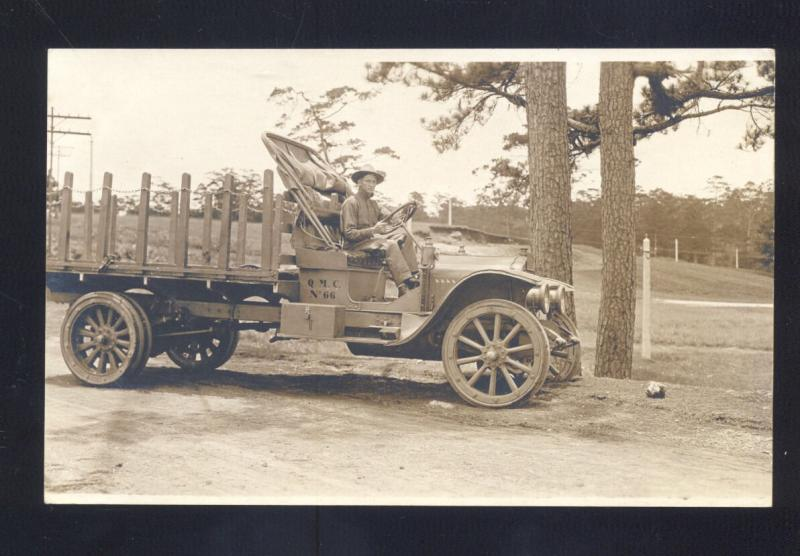 RPPC RPPC BAGUIO CITY PHILIPPINES ARMY TRUCK CAMP JOHN HAY REAL PHOTO POSTCARD