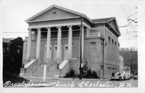 Charleston West Virginia Presbyterian Church Real Photo Antique Postcard K10023