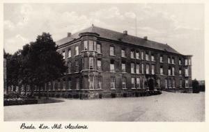 Military Academy Great Church Breda Dutch Holland WW2 Rare Wartime Postcard
