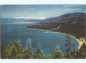 1940's LAKE SCENE Lake Tahoe California CA AE4164