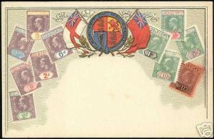 gold coast, Stamp Postcard, Coat of Arms (ca. 1899)