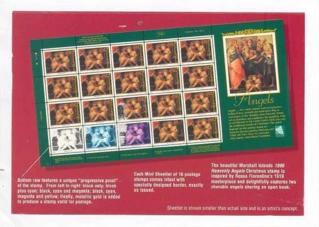 ANGELS  stamps, Republic of the Marshall Islands Postal Service, PU-1996