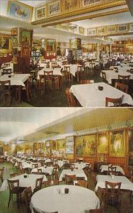 Maryland Balltimore Interior Views Showing Paintings Haussner's Restaurant