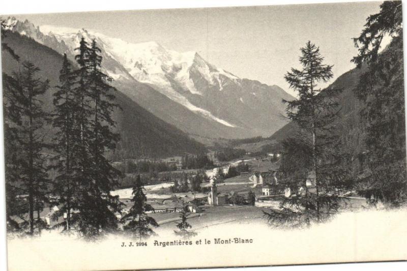 CPA Argentiere et le Mont-Blanc (109336)