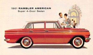 1961 Rambler American 4 Door Sedan Auto Advertising Vintage Postcard JF685301