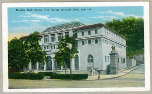 Maurice Bath House, Hot Springs National Park, Arkansas unused Kropp Postcard