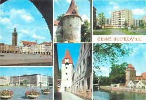 Europe Czech Republic Ceske Budejovice medieval city multiview