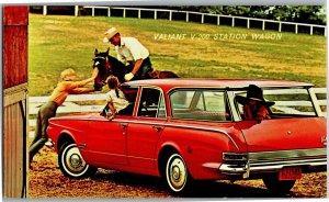 Plymouth Valiant V-200 Station Wagon Kelleher & Mixer Springfield MA PostcardR19