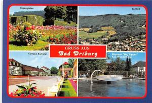 Bad Driburg, Rosengarten Luftbild Brunnen Big Tipper Wandelhalle Kurhaus Hotel
