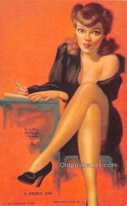 Mutoscope Non Post Card Backing Sweet Job, Earl Moran Unused