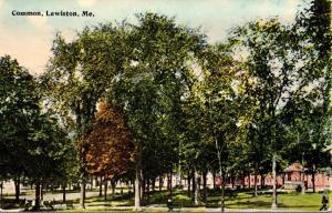 Maine Lewiston The Common